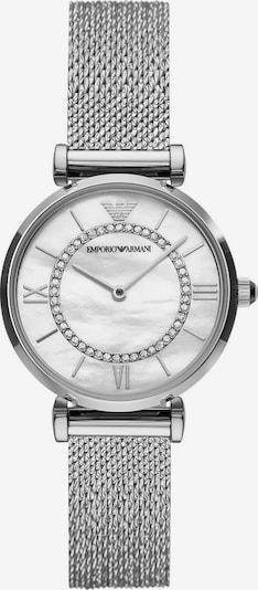 Emporio Armani Uhr in silber / perlweiß, Produktansicht