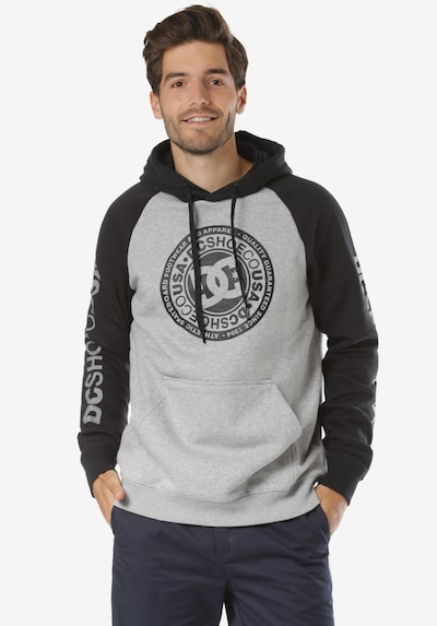 DC Shoes Circle Star Kapuzenpullover in dunkelgrau, Produktansicht