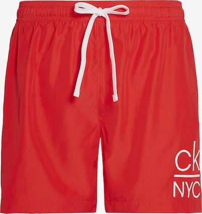 Calvin Klein Swimwear Badeshorts in rot / weiß, Produktansicht