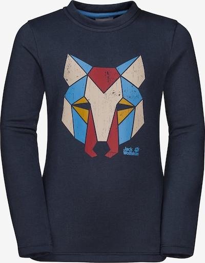 JACK WOLFSKIN Sweatshirt 'Winter' in nachtblau / mischfarben, Produktansicht
