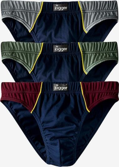 LE JOGGER Slip (6 Stck.) in marine / hellblau / grün / rot, Produktansicht