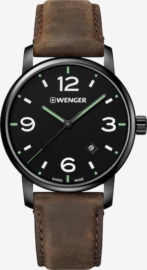 WENGER Analoog horloge 'Urban Metropolitan' in de kleur Donkerbruin / Zwart, Productweergave