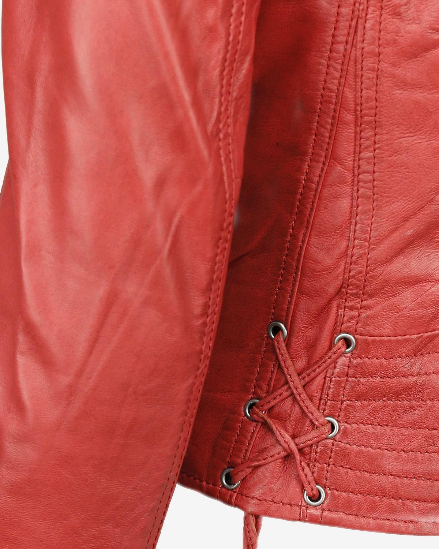 Beliebt Frauen Bekleidung Maze Lederjacke 'Ibiza' in rot Zum Verkauf