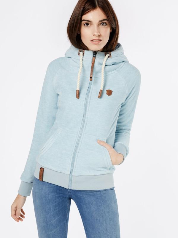 naketano Sweatshirtjacke aus Fleece 'Gigi Meroni'