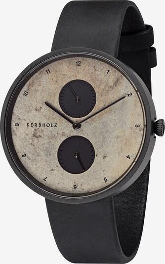 Kerbholz Armbanduhr 'Emil' in schwarz, Produktansicht