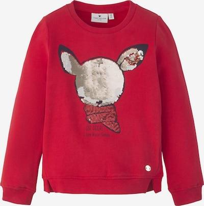 TOM TAILOR Strick & Sweatshirts Sweatshirt mit Pailletten-Motiv in rot: Frontalansicht