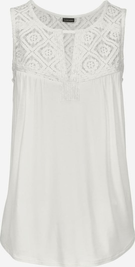 LASCANA Strandtop in offwhite: Frontalansicht