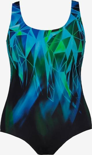 Ulla Popken Maillot de bain 'Mosaik' en mélange de couleurs / noir, Vue avec produit
