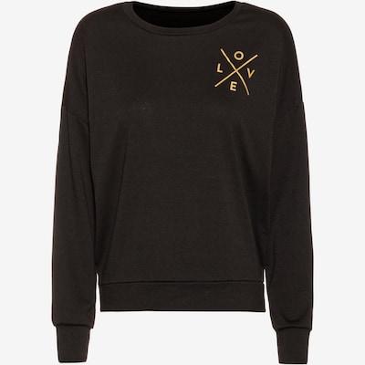 Onzie Sweatshirt 'Yoga' in gold / schwarz: Frontalansicht