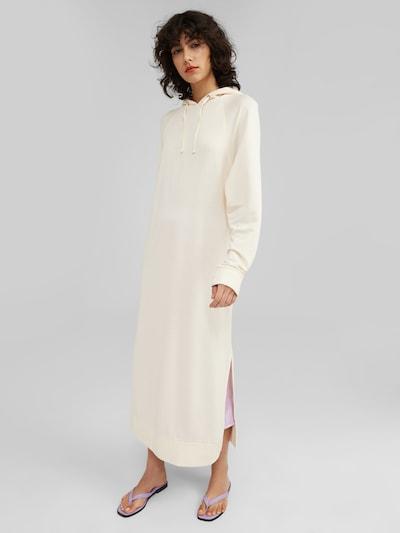 EDITED Robe 'Zora' en beige / blanc, Vue avec modèle