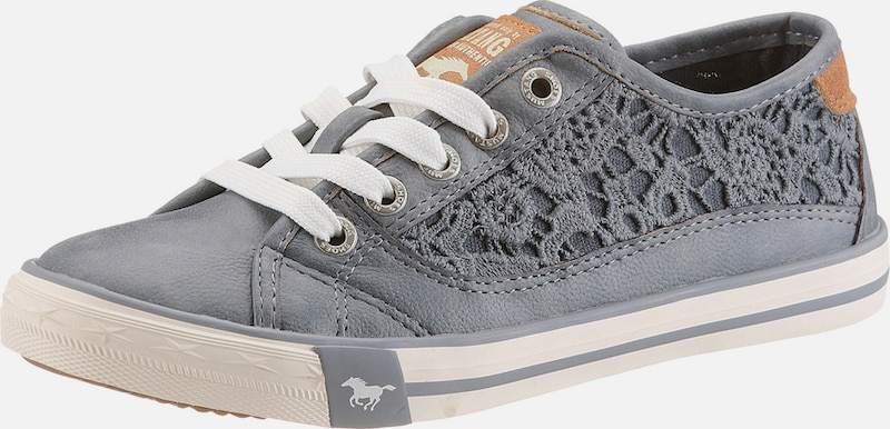 mustang sneaker mit spitze in blau about you. Black Bedroom Furniture Sets. Home Design Ideas