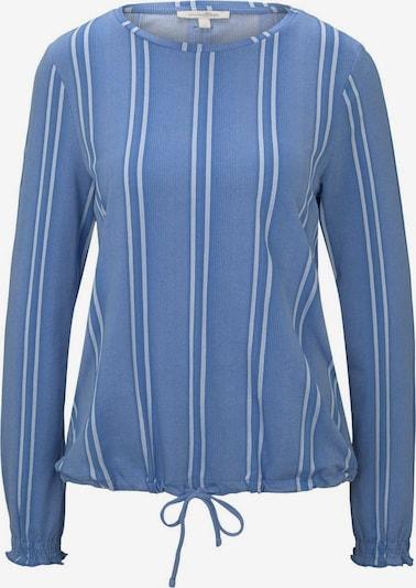 TOM TAILOR DENIM Shirt in rauchblau / weiß, Produktansicht