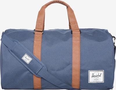Herschel Sac week-end en bleu fumé / noisette, Vue avec produit