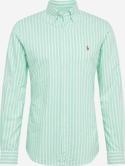 POLO RALPH LAUREN Košile 'SLBDPPCS-LONG SLEEVE-SPORT SHIRT' - zelená / bílá, Produkt