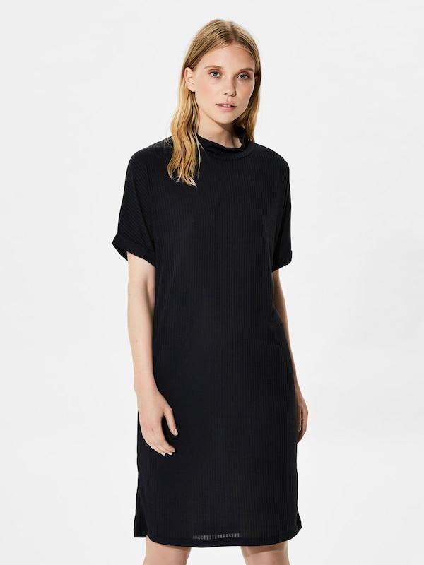 SELECTED FEMME Modalmix-Kleid mit kurzen Ärmeln