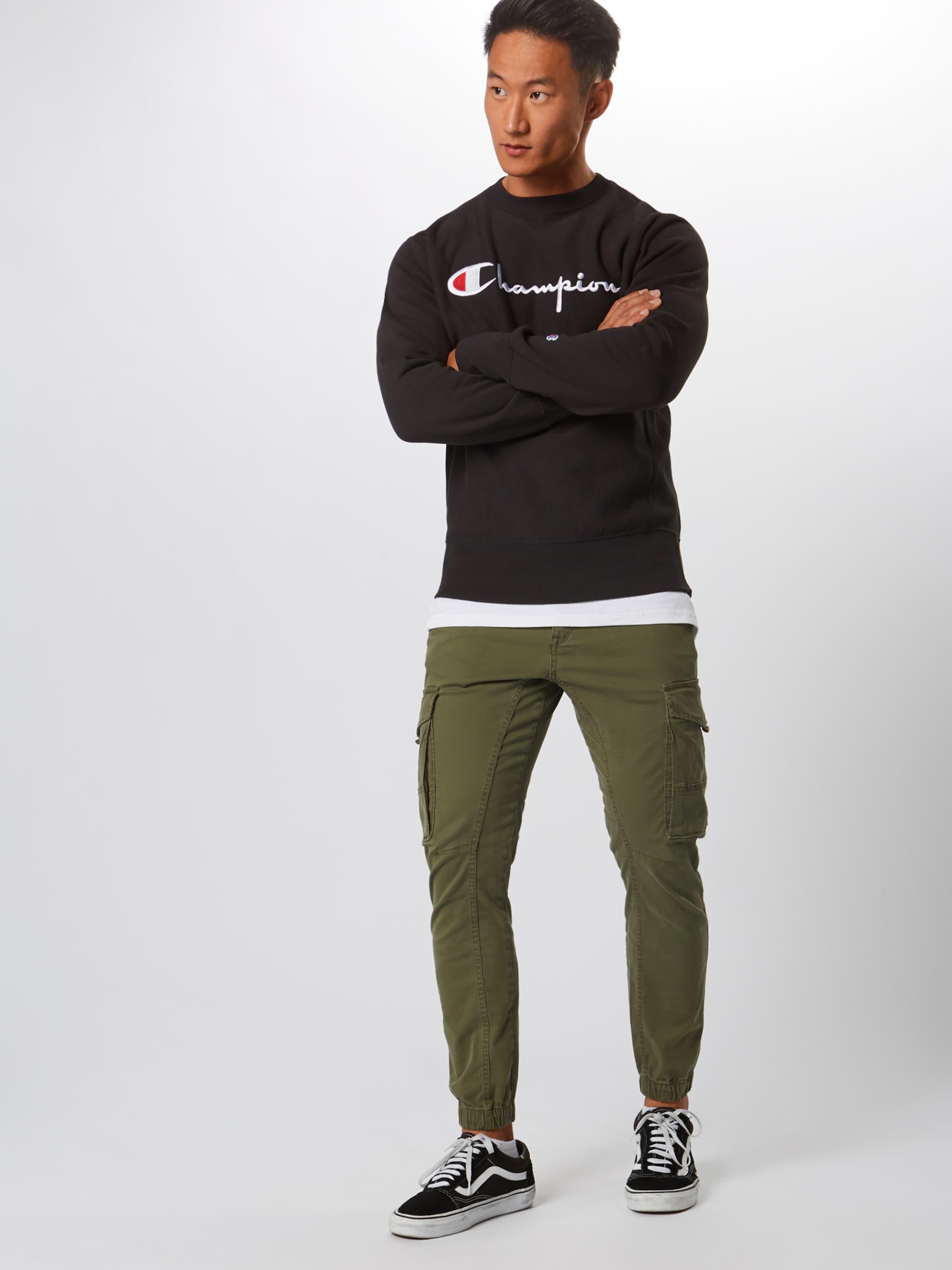SchwarzWeiß Weave Champion Reverse In Sweatshirt jLq3c4S5AR