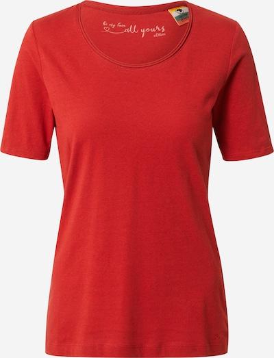 s.Oliver T-Shirt in rot, Produktansicht