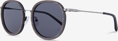 Kerbholz Sonnenbrille 'Jakob' in braunmeliert / dunkelgrau / silber, Produktansicht