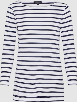 MORE & MORE Shirt in Navy / Wit