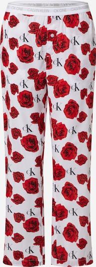 Calvin Klein Underwear Pantalon de pyjama en rouge / blanc, Vue avec produit