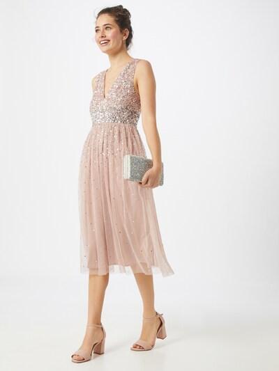 Maya Deluxe Abendkleid in rosa / silber, Modelansicht