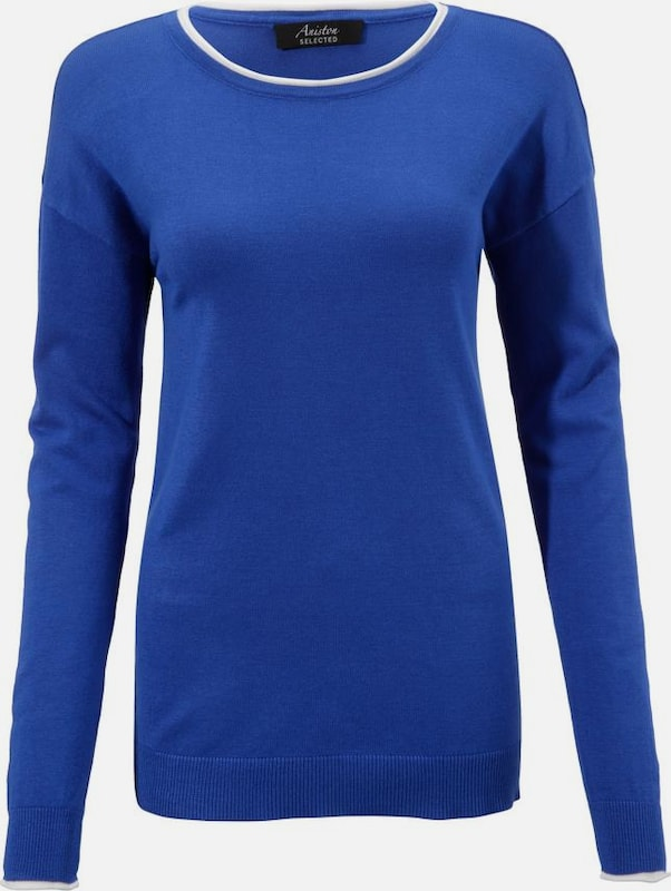 Aniston SELECTED Pullover in royalblau: Frontalansicht