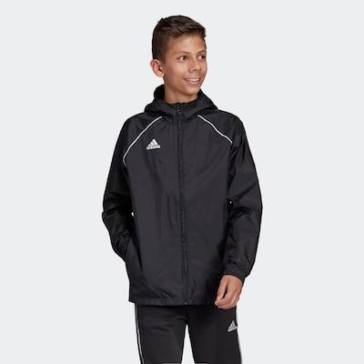 ADIDAS PERFORMANCE Regenjacke 'Core 18' in schwarz: Frontalansicht