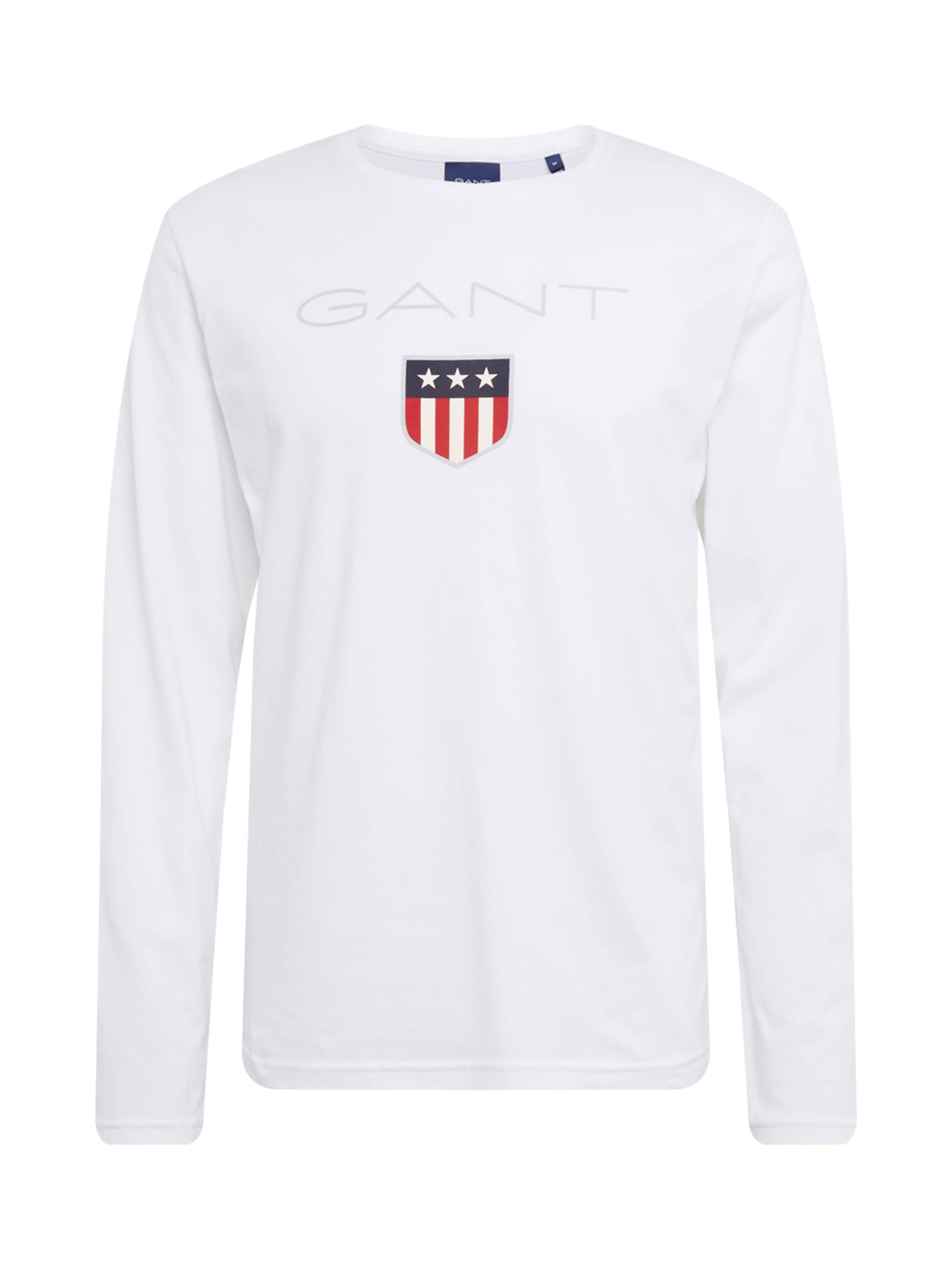 Gant Ls shirt En T T 'shield shirt' Blanc KJl1Fc3T