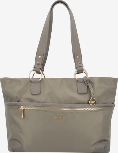 L.CREDI Schultertasche in taupe: Frontalansicht