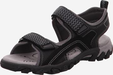 SUPERFIT Sandale 'Hike' in Schwarz