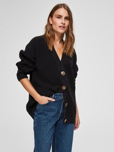 SELECTED FEMME Strickjacke in schwarz, Modelansicht