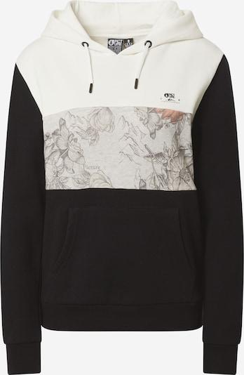 Picture Organic Clothing Sweat de sport 'NELL' en noir / blanc naturel, Vue avec produit