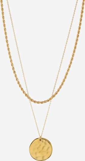 Orelia Kette 'Rope and Coin 2' in gold, Produktansicht