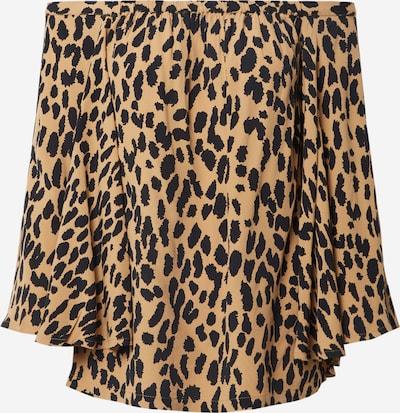 Fabienne Chapot Bluse 'Rosa Top' in braun / schwarz, Produktansicht