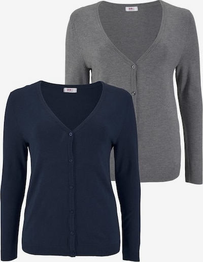 FLASHLIGHTS Strickjacke in blau / grau, Produktansicht