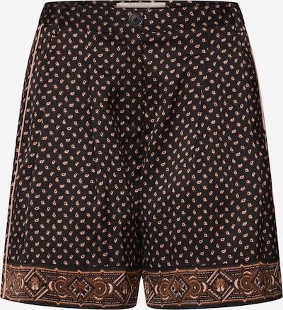 SCOTCH & SODA Bandplooibroek 'Printed pyjama shorts' in de kleur Sand / Zwart, Productweergave