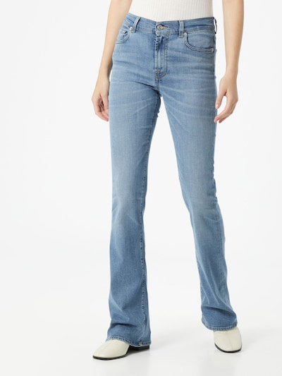 7 for all mankind Jean 'Somewhere' en bleu denim, Vue avec modèle