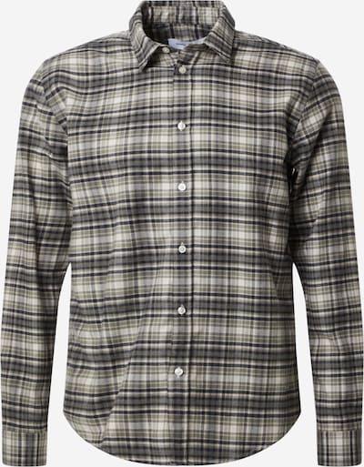 Samsoe Samsoe Hemd 'Liam' in khaki / schwarz, Produktansicht