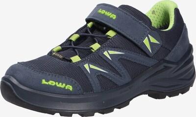 LOWA Halbschuhe in nachtblau / neongrün, Produktansicht
