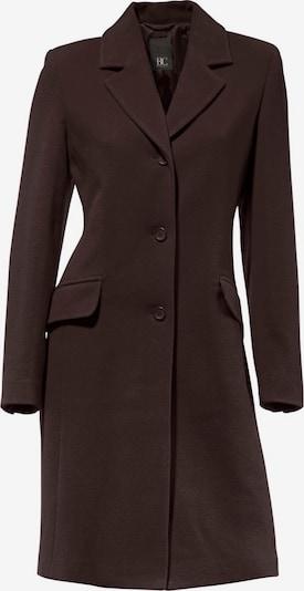 Cappotto di mezza stagione heine di colore cioccolato: Vista frontale