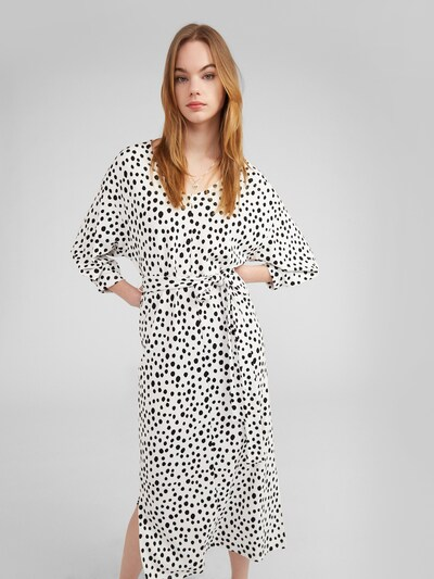 EDITED Kleid 'Zavier' in schwarz / weiß, Modelansicht