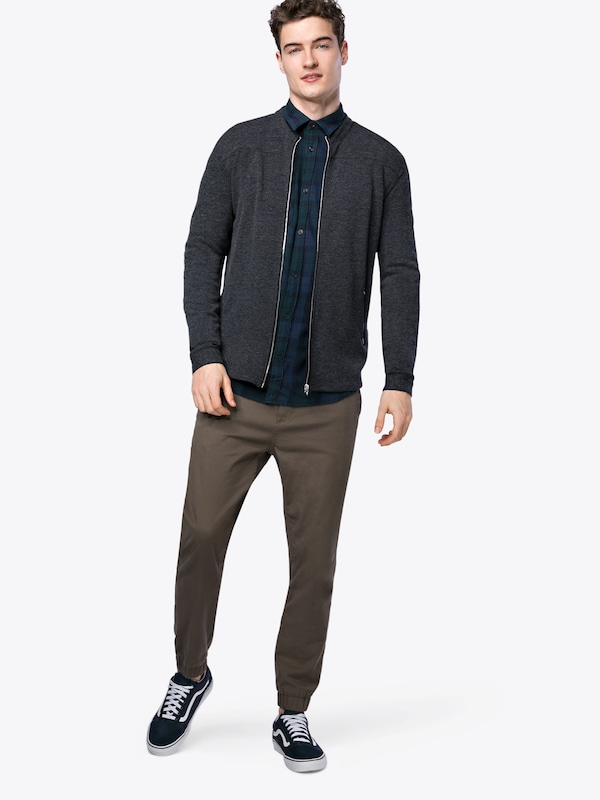 Bleu Shirt Chemise Jackamp; En Ls' Jones Noir NuitVert Foncé 'jordavid JlFc1K