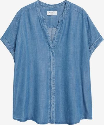 VIOLETA by Mango T-shirt en bleu cobalt, Vue avec produit
