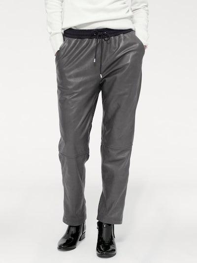 heine Leder-Jogginghose in grau, Modelansicht