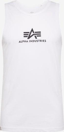 ALPHA INDUSTRIES Tanktop in schwarz / weiß, Produktansicht