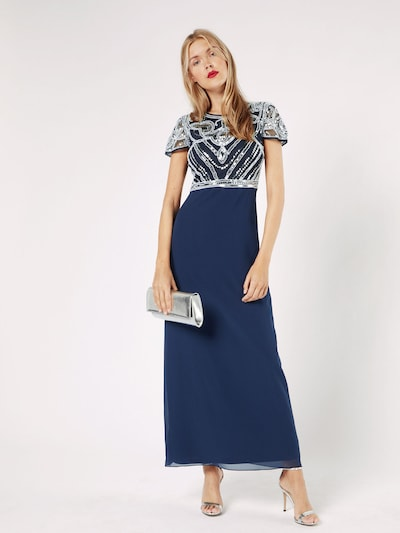 Boohoo Abendkleid 'BOUTIQUE FRANCESCA' in navy / weiß ...