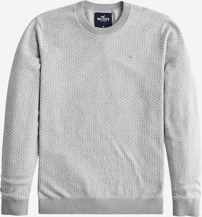 HOLLISTER Pulover | siva / bela barva, Prikaz izdelka