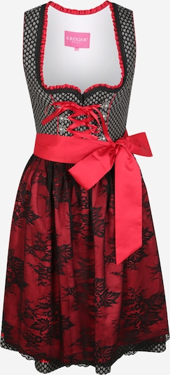 Krüger Madl Dirndl in fire red / black / white, Item view