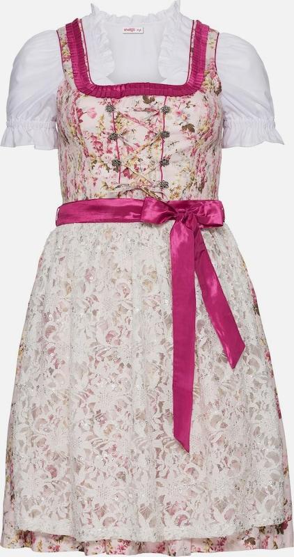 Sheego style Dirndl in hellbraun   Rosa   Rosa   weiß  Großer Rabatt