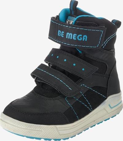 Be Mega Winterstiefel in neonblau / schwarz / weißmeliert, Produktansicht